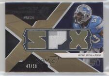 2008 SPx Winning Materials Single Patch SPX Letters #WM-ES Ernie Sims Card