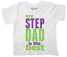 """Camiseta para Bebé """""""" My Step Papá Es el Mejor """""""" Padre Día Stepfather Regalo"""