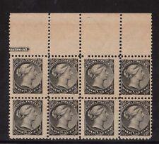 Canada #34 NH Mint Imprint Block Of Eight