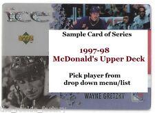 1997-98 McDonald's Upper Deck | #1-40 | Hockey | LOT x1 | U Pick