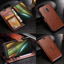 Clásico De lujo Billetera Cuero Estuche Cubierta + Protector de pantalla para teléfonos Motorola Moto
