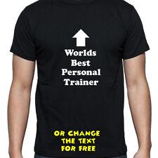 Mondi personalizzati migliore Personal Trainer maglietta regalo di compleanno