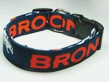 Charming Denver Broncos Football Dog Pet Adjustable Collar Medium Large