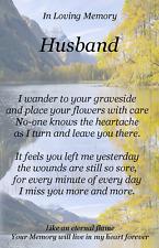 DAD SON BROTHER HUSBAND  Graveside Memorial Keepsake In Loving Memory  Card M19