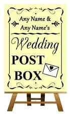Yellow Wedding Post Box Personalised Wedding Sign / Poster
