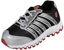K-SWISS 22282-033 TUBES RUN 100 Inf's (M) Black/Silver/Red Mesh Running Shoes