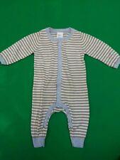 H&M Baby Boy Cotton Knit Long Sleeve Romper One-piece Size Newborn-4m  so soft