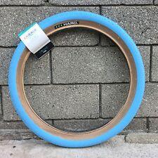 HARO BIKES LINEAGE HPF TIRE 20 X 2.0 BLUE W/ TAN BMX BIKE TIRES SE GT REDLINE