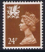 GB QEII Wales SG W60 24p Chestnut 2B  Regional Machin Definitive 10% OFF 5+