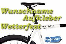 Wunschname Fahrrad Aufkleber Wetterfest Bike Name Sticker Fahrzeugaufkleber