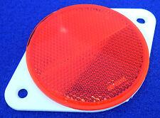 2x 70mm Rundes Rot Reflektoren mit Weiß Schraube Mount Rückseite Teller-