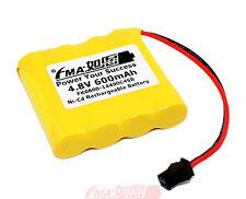 Ni-Cd AA 4.8V 600 900mAh Battery for radios Model Toys RC Car w/SM2P 4SB
