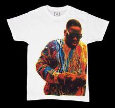 Mens NEW Biggie Notorious B.I.G. T-Shirt White Short Sleeve Tee Size Small