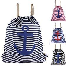 Sports Bags Stripes Anchor Rucksack-Beutel Gym Bag Drawstring Bag Gym Bag 1603