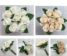 Artificial Silk Flower 8 Roses Wedding bouquet Flowers/Home Decor
