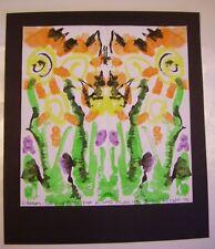 Manson's Ink Blots #123 N Zane Films ORIGINAL blot painting C PETERSON abstract