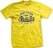 God Loves My Tattoos Artist Gun Skin Ink Body Pray Tattoo Parlor Men's T-Shirt