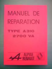 Renault Alpine A310 Workshop Manual Factory 2700 VA