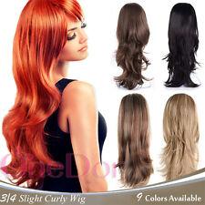 "OneDor 22"" Slight Wavy 3/4 Head Japanese Synthetic Kanekalon Hair Wig with Combs"
