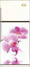 Sticker frigo REPOSITIONNABLE déco cuisine Orchidée 60x90cm Réf 211