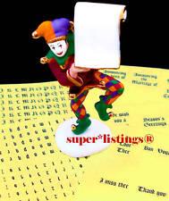 Dept. 56 Hear Ye, Hear Ye! Jester w. Stroll & Labels Easy to Personalize 55523