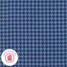 Moda SNOW MUCH FUN 19807 14 Blue Navy Houndstooth DEB STRAIN Quilt Fabric WINTER