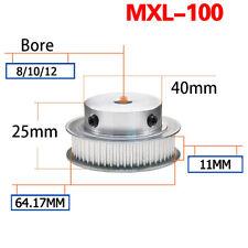 100 Teeth MXL Timing Belt Pulley BF-type for 10mm Belt Reprap 3D Printer CNC