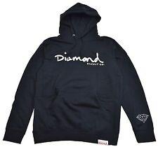 Diamond Supply Co. OG SCRIPT HOODIE Navy White Pullover Men's Sweatshirt