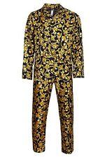 VERSACE BAROCCO Herren Pyjama Set Langarm Schlafanzug  Silk Reine Seide