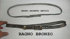 CINTURA METALLO TESSUTO MILANESE LARGA 2 CM  made in italy BAGNO BRONZO
