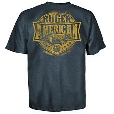 Ruger Heartland Ringspun Gun Riffle 2nd Ammendment Navy Tee Shirt 501-2534