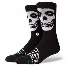 Stance Mens New Classic Crew Anthem Misfits Comfort Black Socks BNWT