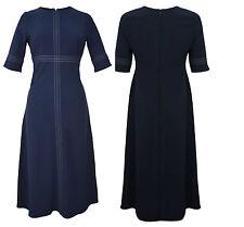 Womens Principles  Ben de Lisi @ Debenhams Navy Triple Stitch Midi Dress-10-16