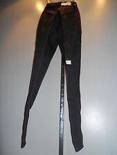 Nos 70s 80s Chic Hi Waist Rise Black Skinny Jeans Boho Disco Retro Vintage 10/11