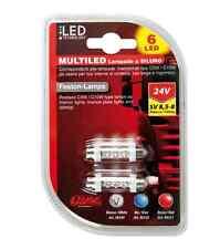 MICRO LAMPADA 4 LED 24V T4W BA9S BIANCO X CRUSCOTTO LUCI DI CORTESIA LAMPA 98349