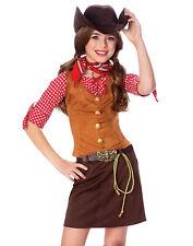 Gun Slinger Girls Cowgirl Fancy Dress Indians And Cowboys Halloween Costume