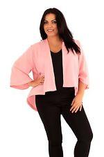 Ladies Kimono Evening Top Jacket Shrug Open Front Cardigan Plus size 16 18 20 22