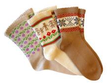 Socks 100% MERINO WOOL adult men women leg warmers hand knit knitted traditional