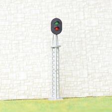 2 x HO / OO gauge model train block signal railway 2 aspect LED Light Silver #S2