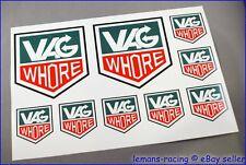 VAG WHORE Decals Stickers VW Beetle Golf Polo Passat Herbie Volkswagen HOT ROD