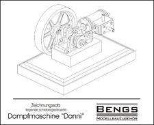 """Bauplan liegende Dampfmaschine """"Danni"""" Zeichnungssatz Modellbau"""