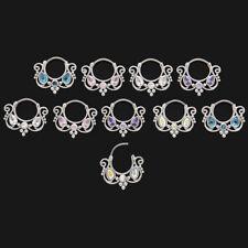 Septum Clicker Ranke Spirale Kristalle Farbwahl Nase Septum Helix Piercing