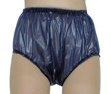 PVC Plastic Pants Panties Knickers 4 Sizes Waterproof Briefs Soft  Blue Plastic