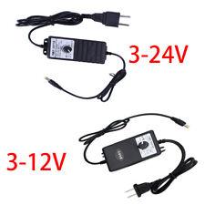 Adjustable DC 3-24V 2A / 3-12V 1A Adapter Power Supply Motor Speed Controller