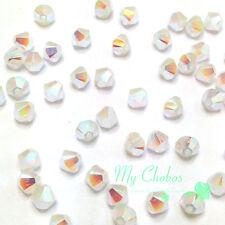 White Opal AB 2x (234 AB2X) Swarovski 5328 / 5301 4mm Crystal Bicone Beads