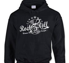 SWEAT capuche ROCK'N'ROLL  Clé de sol Disque vinyle Rockabilly Greaser 60's Pull