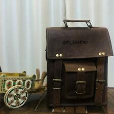 """18"""" Men Real Fashionable Vintage Leather Satchel Messenger Laptop Briefcase Bag"""
