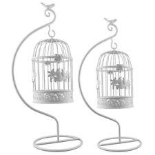 Deko Metall Vogelkäfig mit Ständer Dekokäfig Shabby Antik weiß in zwei Größen