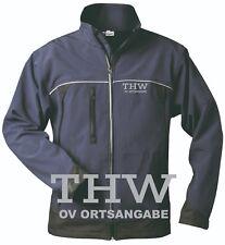 THW Jacke / THW Softshell Jacke navy Brust- + Rückenaufdruck Neu*