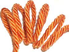 Orange Soie /coton passepoil / bordure corde, 5mm corde, x 2 mètres, Art 12.655